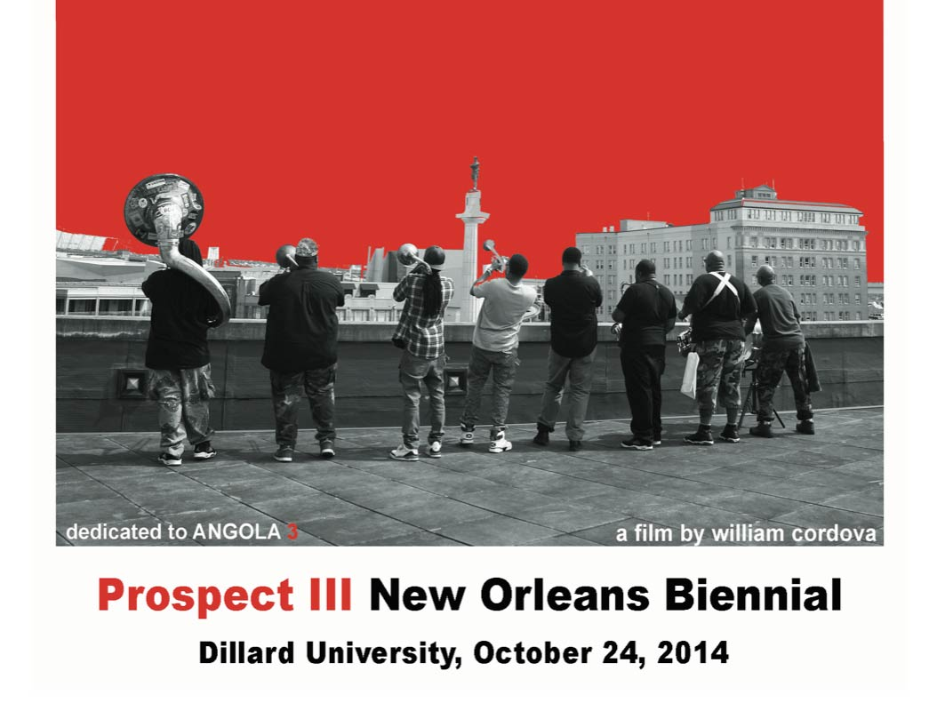 Silent Parade..., film by William Cordova, Prospect III, Dillard University, New Orleans, opens October 24, 2014